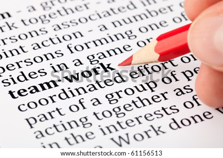 Teamwork - definition in a dictionary - stock photo