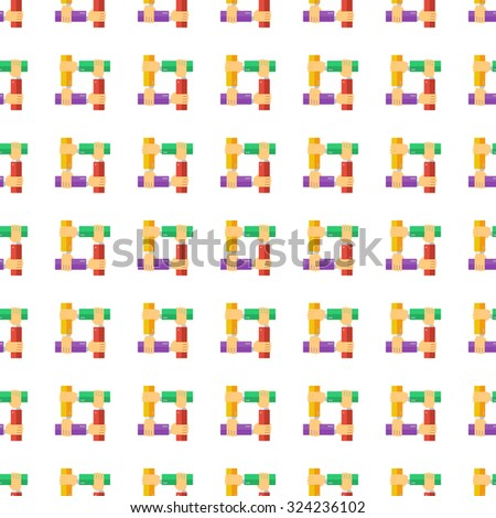 teamwork hands icon seamless pattern, tiling ornament on white.