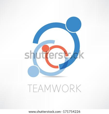 teamwork icon - stock photo