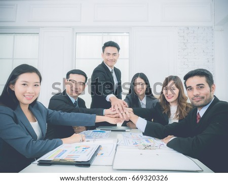 Teamwork Join Hands Partnership Concept