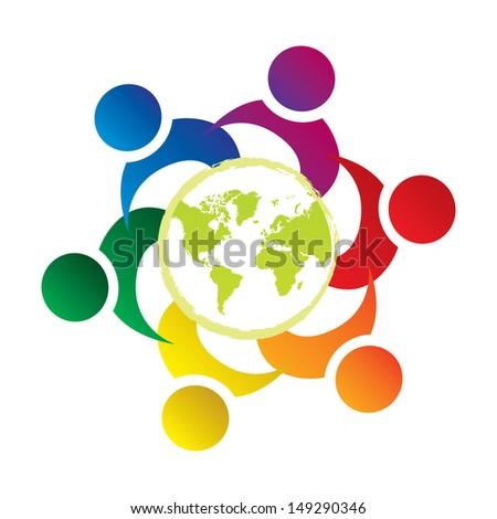 teamwork union people world - stock photo