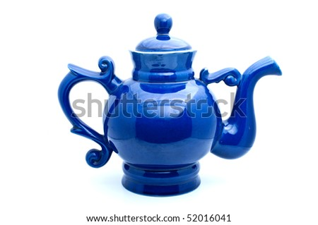 Teapot for tea leaves of tea on a white background