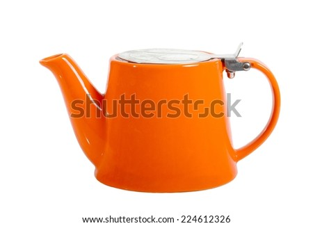 Teapot isolated on white background - stock photo