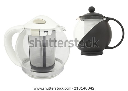 teapot under the white background