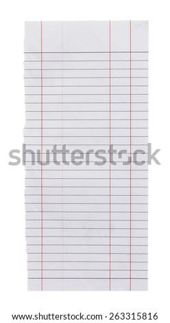 Tear paper background with Clipping Path.