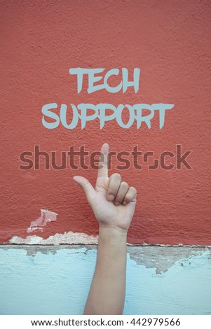 Tech Support. - stock photo