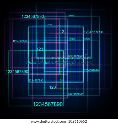 Tech With Digital Numbers. Eps Version Also Available In Gallery. - stock photo