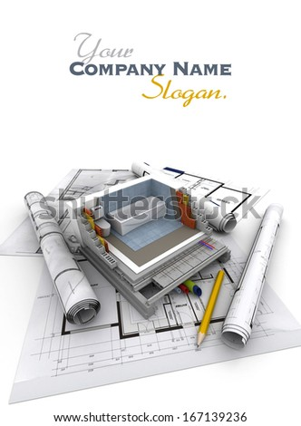 Technical details of home construction, toilet - stock photo