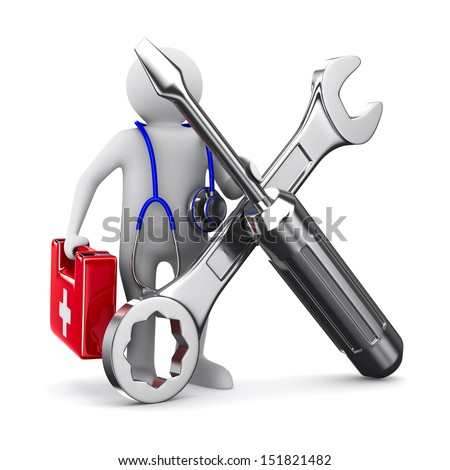 technical service. Isolated 3D image - stock photo
