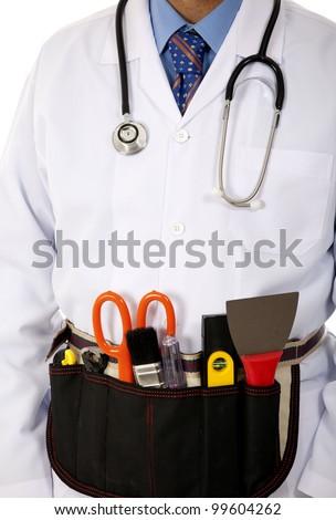 technician doctor - stock photo
