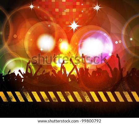 Techno party - stock photo