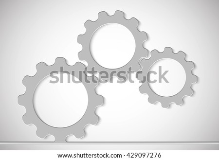 technological background from gears