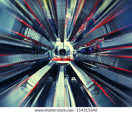 Technological industrial abstract background - stock photo