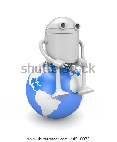Technologies control the world - stock photo