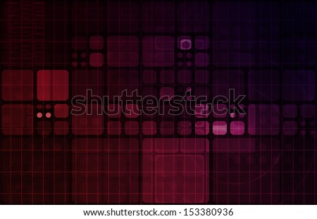 Technology Abstract with Futuristic Lines and Data - stock photo