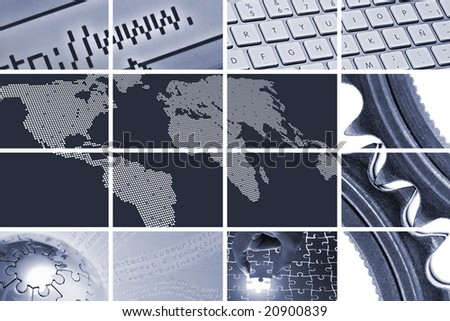 technology and communications composition - stock photo