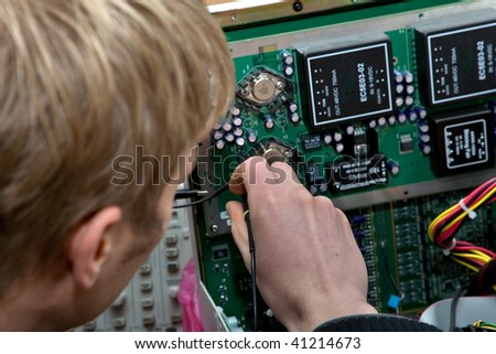 Technology and development ultrasound device. See similar. - stock photo