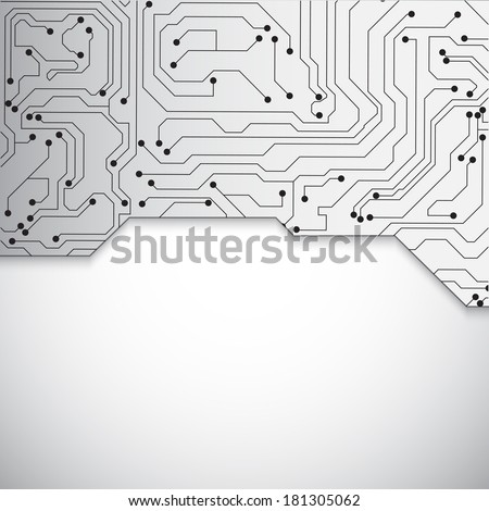 Technology background. Circuit board background. Raster version - stock photo