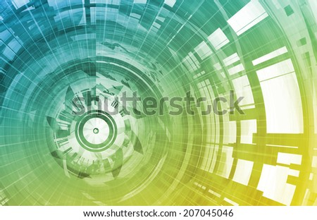 Technology Background Digital Energy as a Art - stock photo