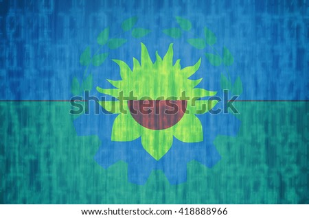 technology background flag of one of administrative divisions of argentina called buenos aires - stock photo