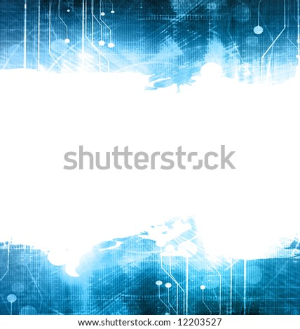 Technology background with faint glow