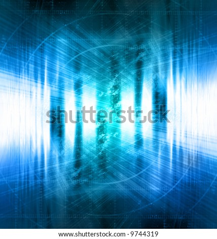 Technology background with faint glow - stock photo