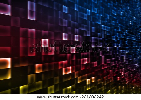 Technology background with small pieces everywhere. - stock photo