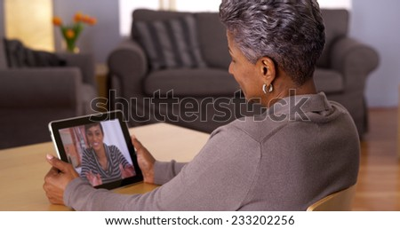 Technology bringing family members together - stock photo