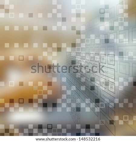 Technology business concept background network - stock photo