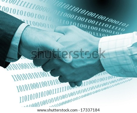 Technology deal - stock photo