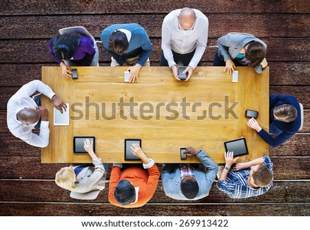 Technology Digital Device Communication Online Concept - stock photo