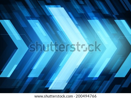 Technology future arrows abstract   background, moving forward concept. Raster copy