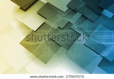 Technology Infrasctucture and Overview as a Art - stock photo
