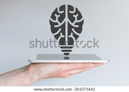Technology innovation concept in mobile computing and digital technology - stock photo