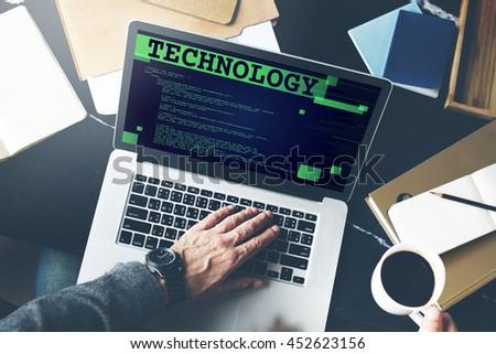 Technology Innovative Digital Evolution Innovation Concept - stock photo