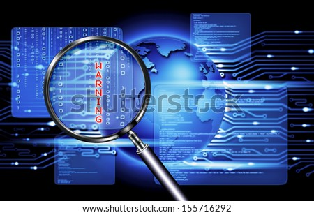 technology of computer security - stock photo