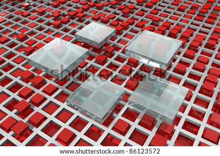 Technology of the future - nanotechnology - stock photo