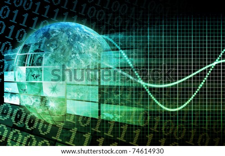 Technology Platform in a Modern Business World - stock photo