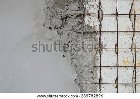 Technology reinforced concrete walls within the styrofoam - stock photo