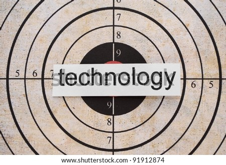 Technology  target - stock photo