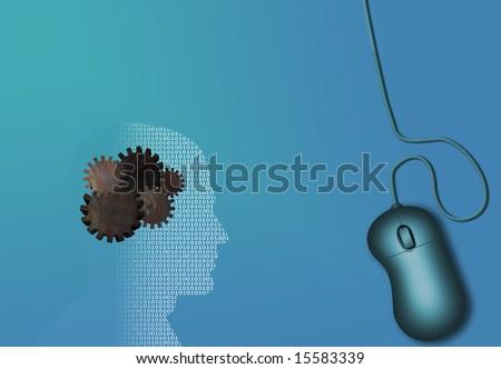 Technology work - stock photo