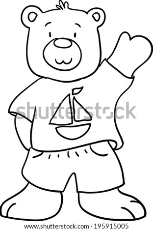 Teddy Bear Coloring Book Children Stock Illustration 195915005 ...