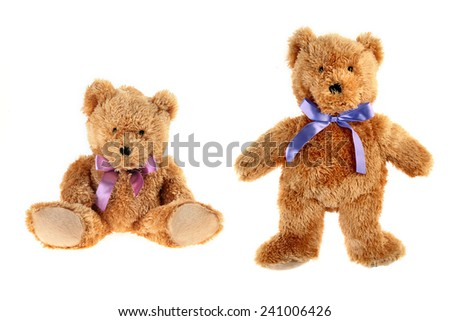 teddy bear / couple - stock photo