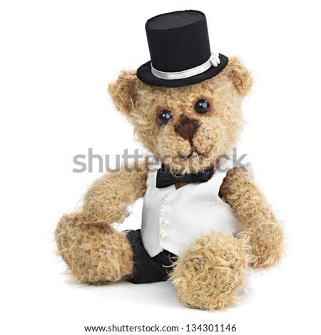 Teddy bear groom - stock photo