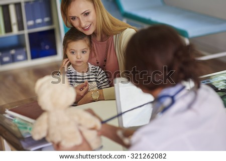 Teddy bear is also our patient - stock photo