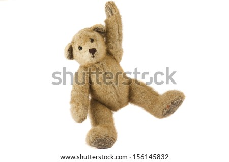 Teddy Bear isolated on white background - stock photo