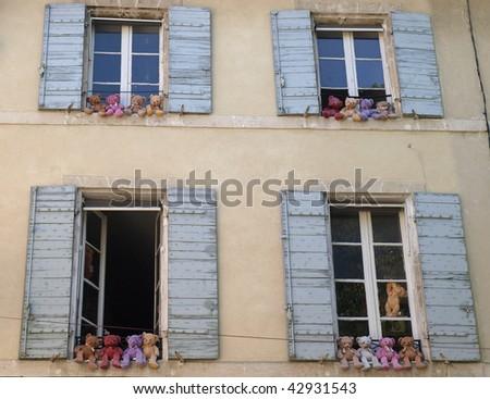 teddy bears in Saint Remy de Provence, France - stock photo