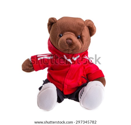 teddy bears isolated on white background - stock photo