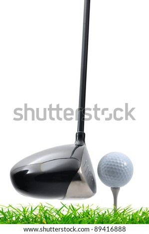 tee off on white background