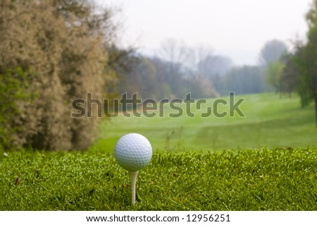 Tee off with nice background